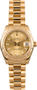 Pre Owned Rolex President 178278 Champagne Dial