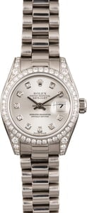 Rolex Lady President 179159 White Gold Diamonds