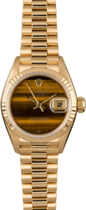 PreOwned Rolex Ladies Datejust 69178 Tiger Eye Dial