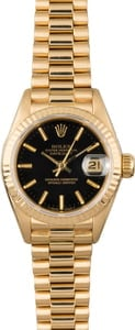 Used Rolex President 69178 Black Dial