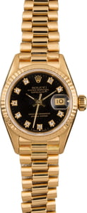 Ladies Rolex President 69178 Diamond Dial