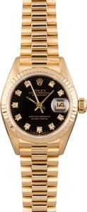 Pre Owned Rolex Ladies Diamond Dial President 69178