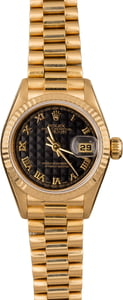 Pre Owned Rolex Ladies President 79178 Black Pyramid Dial