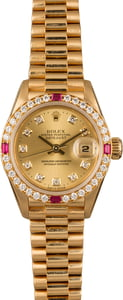 Rolex Lady President 79178 Diamond & Ruby Bezel