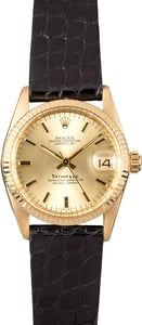 Rolex Gold Datejust 6827 Tiffany & Co Dial
