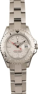 Pre-Owned Rolex Ladies Yacht-Master 169622 Platinum Dial