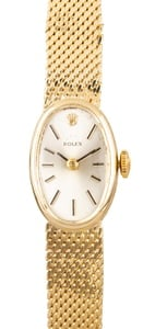 Rolex Ladies Vintage Cocktail Watch 14K Gold