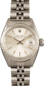 Used Womens Rolex Datejust 6917 Silver