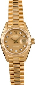 Pre-Owned 26MM Rolex Ladies President 69178 Diamond Dial