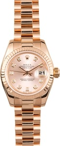 Rose Gold Ladies Rolex President 179175