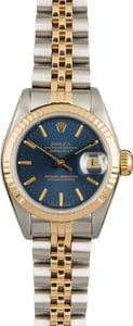 Used Rolex Datejust 69173 Blue Dial