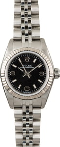 Ladies Rolex Oyster Perpetual 76094 Black Dial