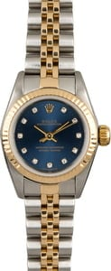 Used Rolex Oyster Perpetual 67193 Blue Diamond Dial