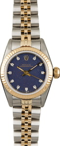 PreOwned Rolex Oyster Perpetual 67193 Blue Diamond Dial