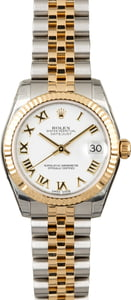 Used Rolex Datejust 178273 Mid-Size White Roman