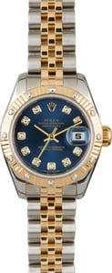 Used Rolex Lady-Datejust 179313 Blue Diamond Dial