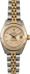 Used Rolex Datejust 69173 Silver Tapestry Index Dial