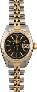Rolex Datejust 69173 Black Tapestry Index Dial