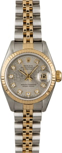Used Rolex Datejust 69173 Silver Jubilee Diamond Dial