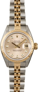 PreOwned Rolex Datejust 69173 Silver Diamond Dial