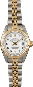 Used Rolex Datejust 69173 White Roman Dial