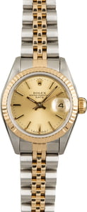 PreOwned Rolex Ladies Datejust 69173 Champagne