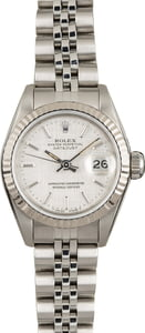 Used Ladies Rolex Datejust 69174 Silver Linen Dial
