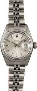 PreOwned Rolex Date 69190 Silver Dial