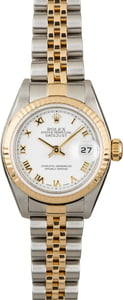 Used Rolex Datejust 79173 White Roman Dial