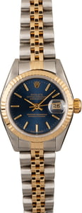 PreOwned Rolex Datejust 79173 Blue Dial