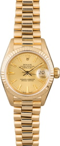 Used Rolex Lady Presidential 69178 Fluted Bezel