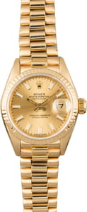Used Rolex Ladies Presidential 69178 Fluted Bezel