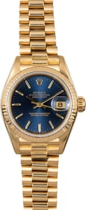 Women's Rolex Presidential Datejust 69178 Blue