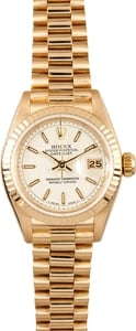 18k Ladies Rolex Datejust 69178 1