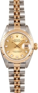 Lady Rolex Champagne Diamond Datejust 69173