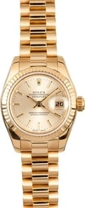 Ladies Gold Rolex Datejust 179178