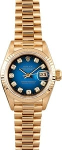 Lady Rolex 18K Datejust Diamond Dial