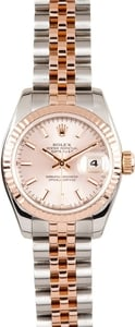 Lady Rolex DateJust Rose Gold Jubilee