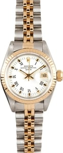 Ladies Rolex Date 69173 White Dial