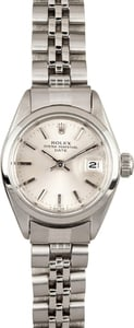 Pre-Owned Ladies Rolex Date Oyster Perpetual Steel 6916