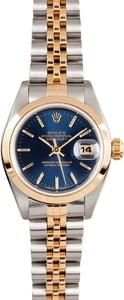 Ladies Rolex Oyster Perpetual 69163 Blue Dial
