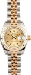 Ladies Rolex DateJust 179173 Champage Dial