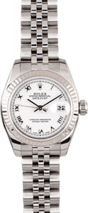 Ladies Rolex DateJust 179174 White Dial
