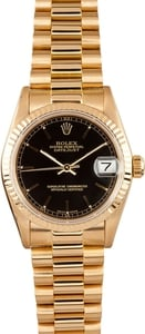 18K Rolex DateJust Midsize Watch 68278