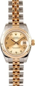 Ladies Pre Owned Rolex Datejust Stainless and Gold Watch 179173