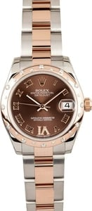 Ladies Rolex Rose Gold Mid-Size 178341