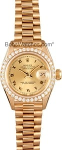 Pre-Owned Ladies Rolex President Watch 69138