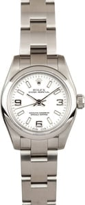 Ladies Rolex Oyster Perpetual 176200 White Dial