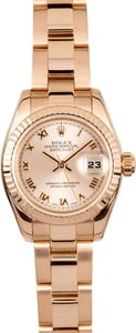 Ladies Rolex Rose Gold 179175