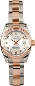 Lady Rolex DateJust 179161 18k Rose Gold